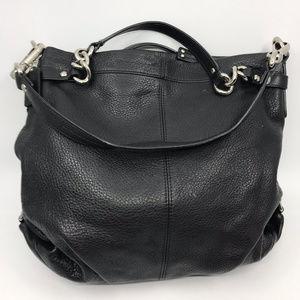 COACH L Black Grain Leather Shoulder Bag
